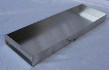Kuchenblech / Backblech mit Vorsatzschiene ca. 20 x 58 x 5 cm NEU ( 10 Stück )