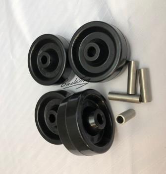 Stikkenwagenrollen / Hitzebeständige Lenkrollen ø 80mm NEU! ( 4 Stück )