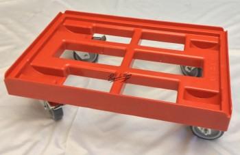 Transportroller Transportwagen Rolli für Kisten 60 x 40 cm mit 2 Bremsen ( 3 Stück )