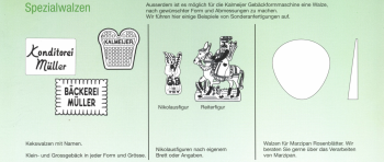 Kalmeijer KGM Gebäckformwalze Standardwalzen 250mm NEU Spezialwalzen